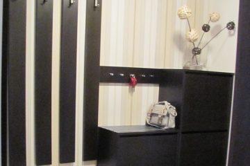 STG GST Starogard Gdański dom przedpokój modern projektowanie wnętrz architekt siedzisko uchwyt szafa szafka na buty uchylna ikea wieszak wieszak na buty szufladka tani