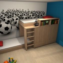 Łóżko piętrowe. Projekt Małgorzata Koślicka M-Studio Starogard Gdański