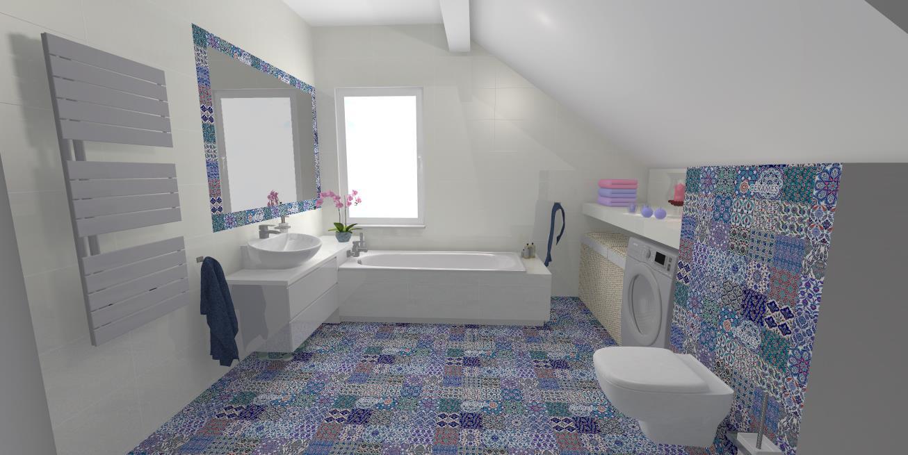 łazienka Płytki Hiszpańskie M Studio Meble Na Wymiar