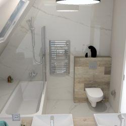 łazienka carrara drewno