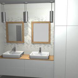 łazienka jasny szary